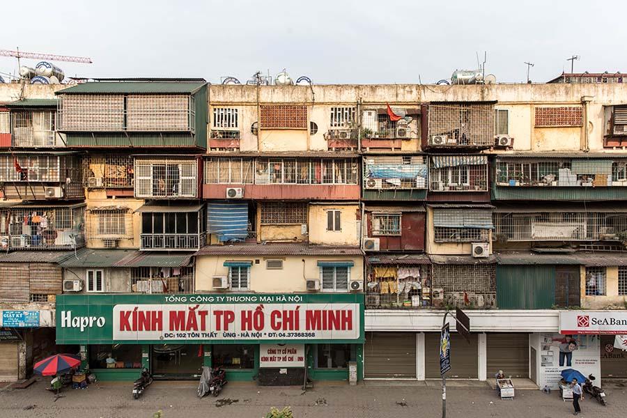 Logements Khu Tap Thê vus de face, Hanoi