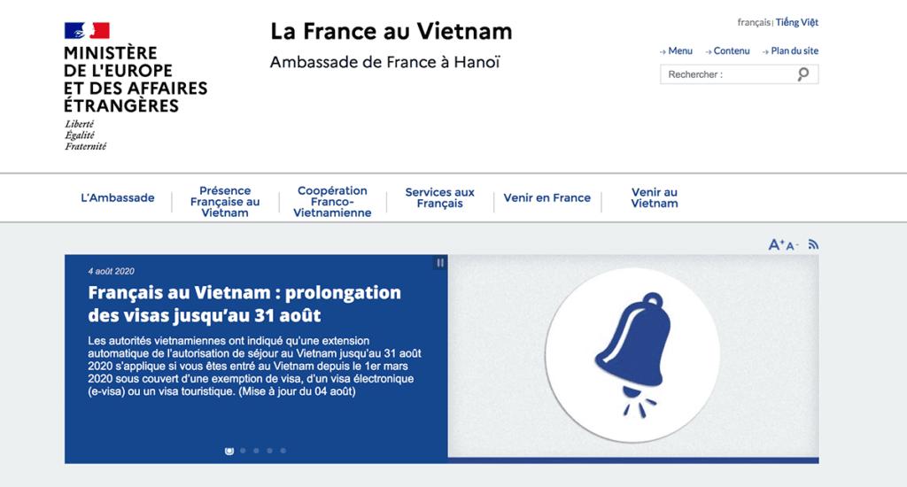 Site web de l'Ambassade de France