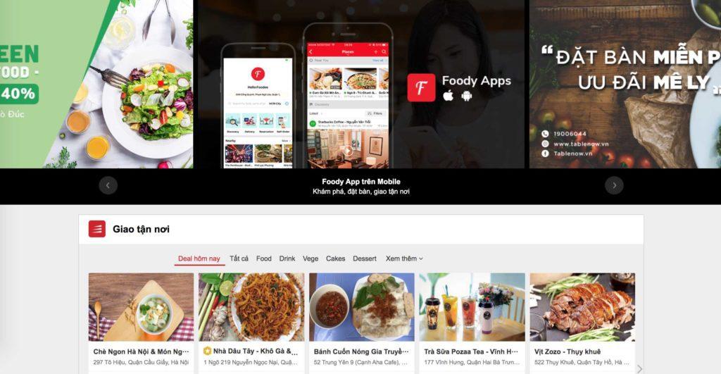 Le site Foody pour commander des plats
